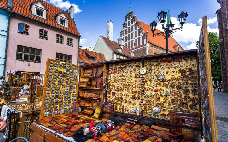 Monumenti storici a vecchia Riga immagini stock