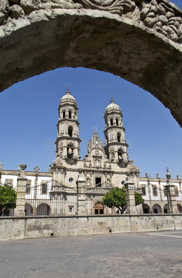 Monumenti turistici della città di Guadalajara fotografia stock libera da diritti