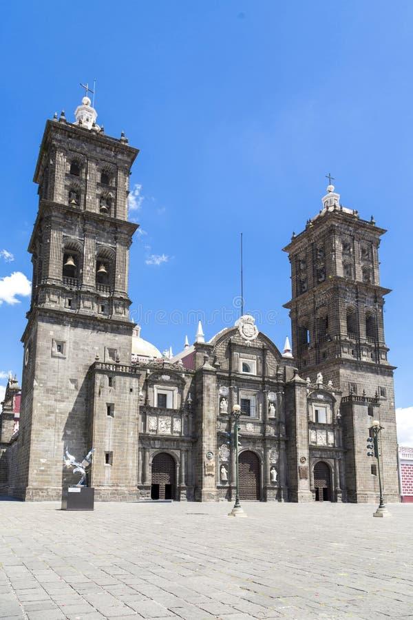 Monumenti turistici della città di Puebla, Messico fotografie stock libere da diritti