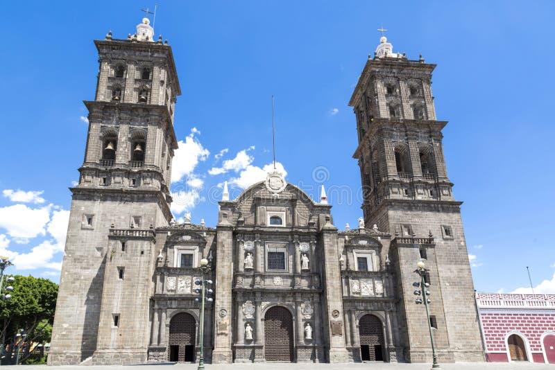 Monumenti turistici della città di Puebla, Messico immagine stock