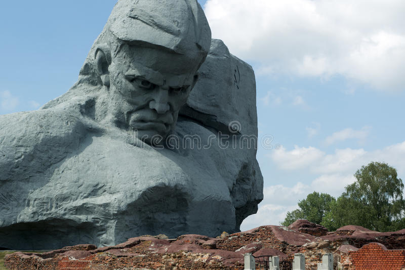 Monumentkurage i den Brest fästningen. royaltyfri bild