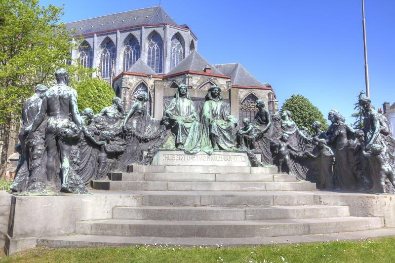 Monumentmaler Hubert und Jan van Eyck stockfotografie