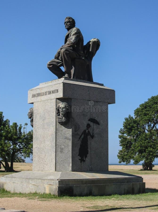MonumentMontevideo Rambla Uruguay arkivfoto