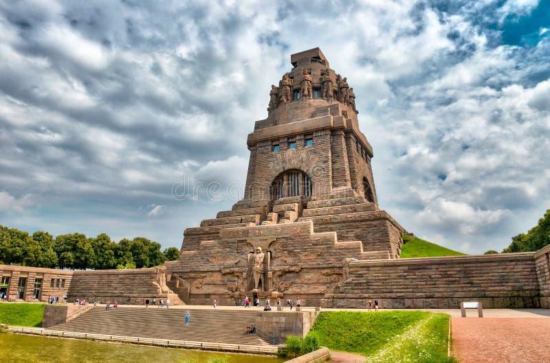 Monumento à batalha das nações, Leipzig, Alemanha imagem de stock