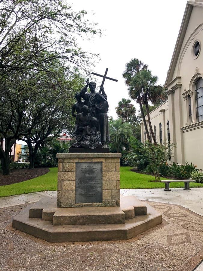 Monumento à comunidade minorquina, St Augustine, Florida foto de stock