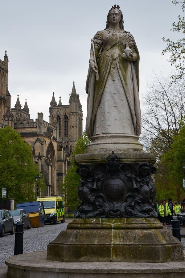 Monumento à rainha e à imperatriz Victoria em Bristol, Inglaterra imagem de stock royalty free