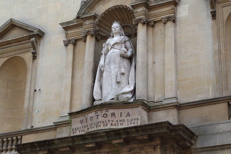 Monumento à rainha Victoria, banho, Reino Unido fotografia de stock royalty free