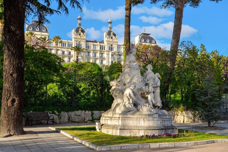 Monumento à rainha Victoria em agradável imagens de stock