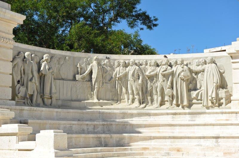 Monumento às cortes de Cadiz, 1812 constituição, a Andaluzia, Espanha imagem de stock
