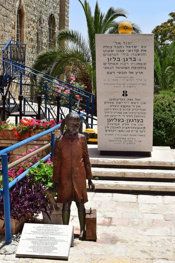 Monumento às crianças do refugiado durante o holocausto imagem de stock