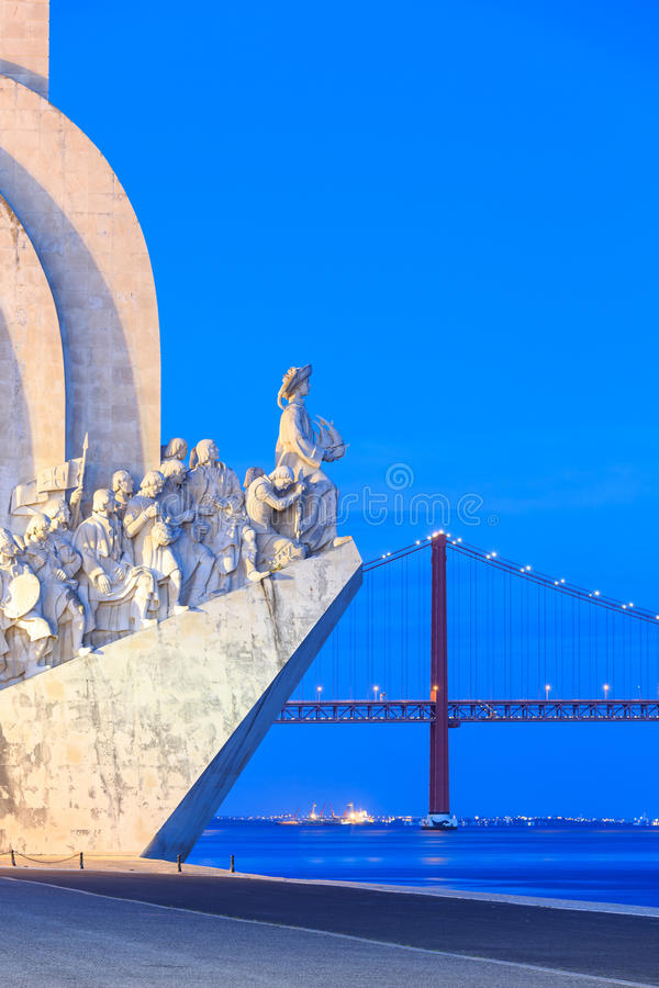 Monumento às descobertas, Lisboa, Portugal fotos de stock