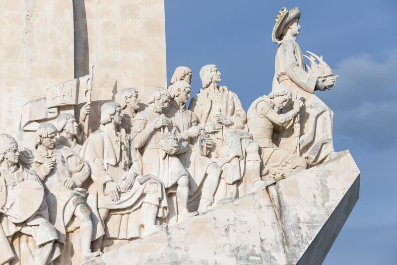 Monumento às descobertas, Lisboa, Portugal imagem de stock