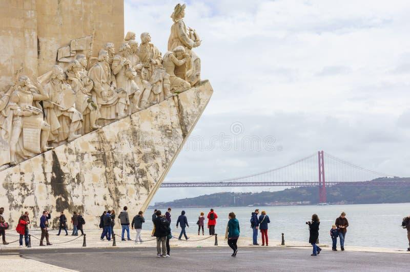 Monumento às descobertas, Lisboa, Portugal foto de stock royalty free