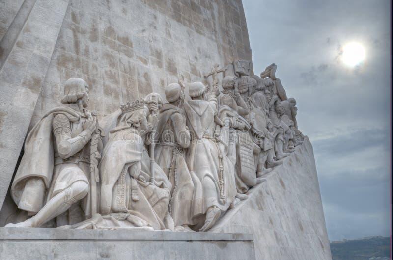 Monumento às descobertas 52 medidores de altura, este monumento comemoram o cinco centésimos fotografia de stock royalty free