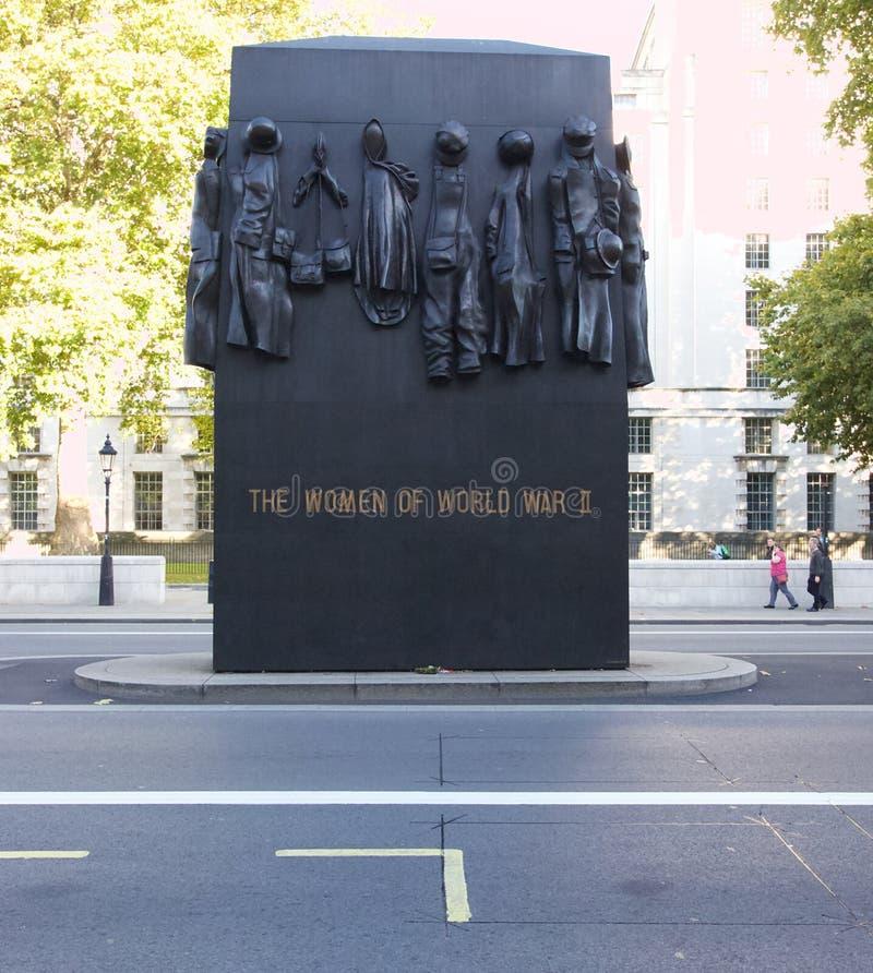 Monumento às mulheres da segunda guerra mundial, Londres, Inglaterra fotos de stock royalty free