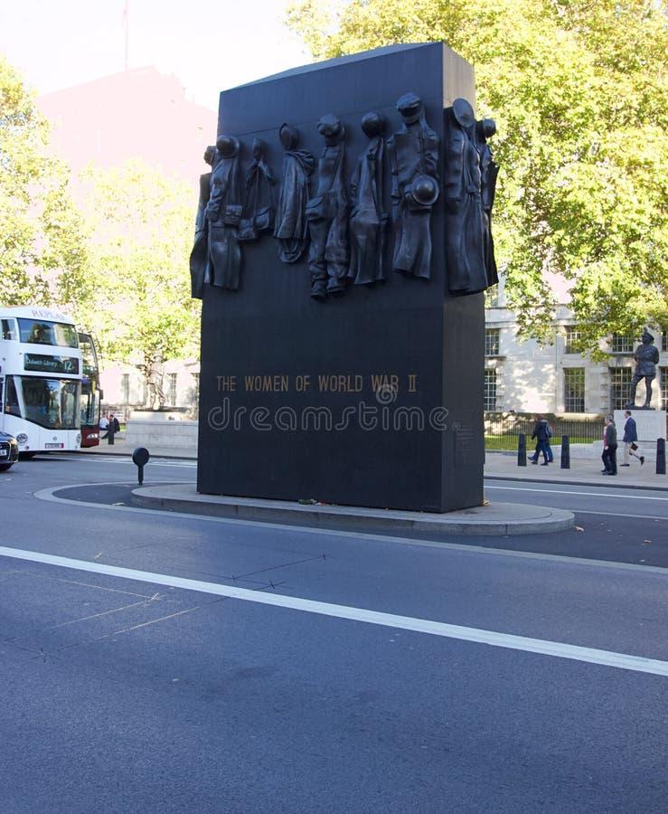 Monumento às mulheres da segunda guerra mundial, Londres, Inglaterra imagens de stock