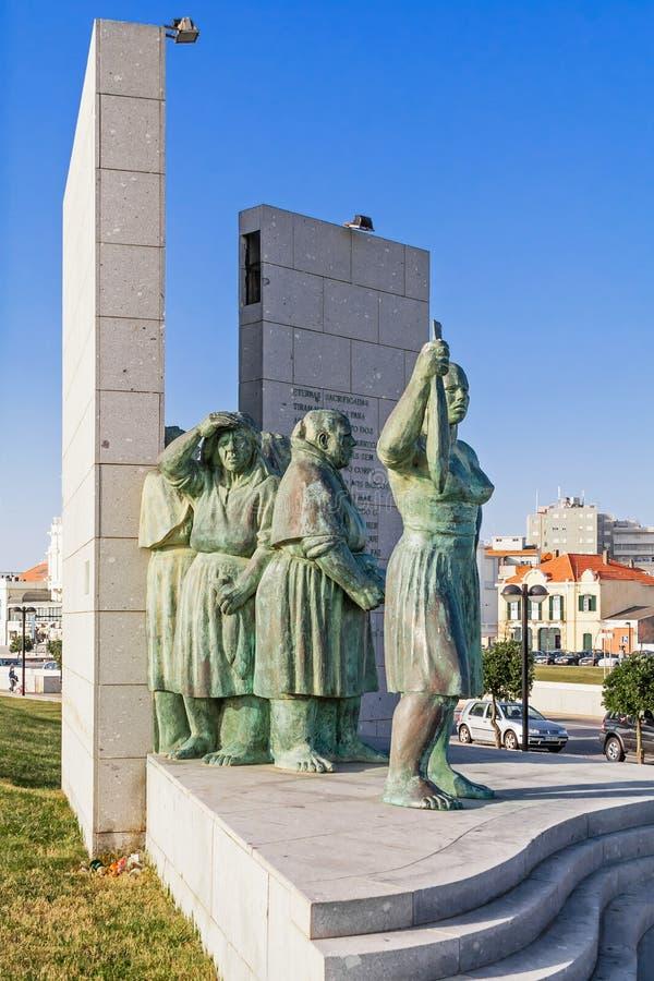 Monumento ως Peixeiras Μνημείο στις γυναίκες Fishwives ή ψαριών στοκ φωτογραφία
