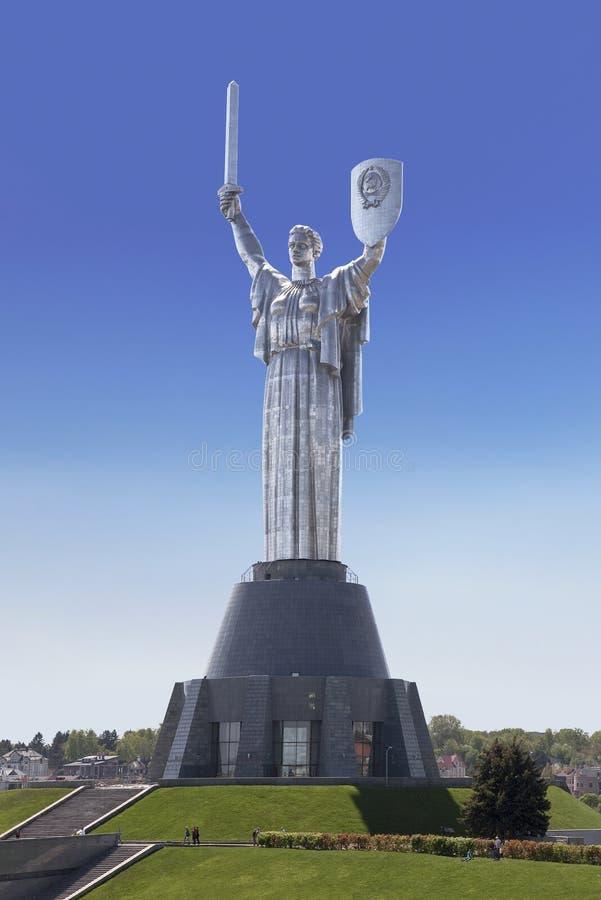 Monumento 'patria 'en Kiev, dedicada a la victoria en la gran guerra patriótica Museo Nacional de la gran guerra patriótica imagen de archivo libre de regalías