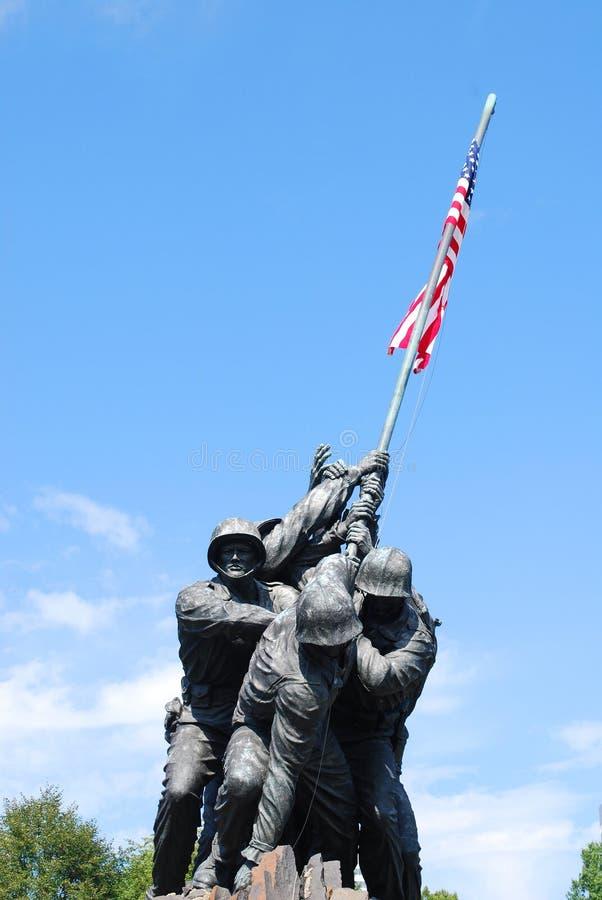 Monumento 1 de Iwo Jima foto de stock