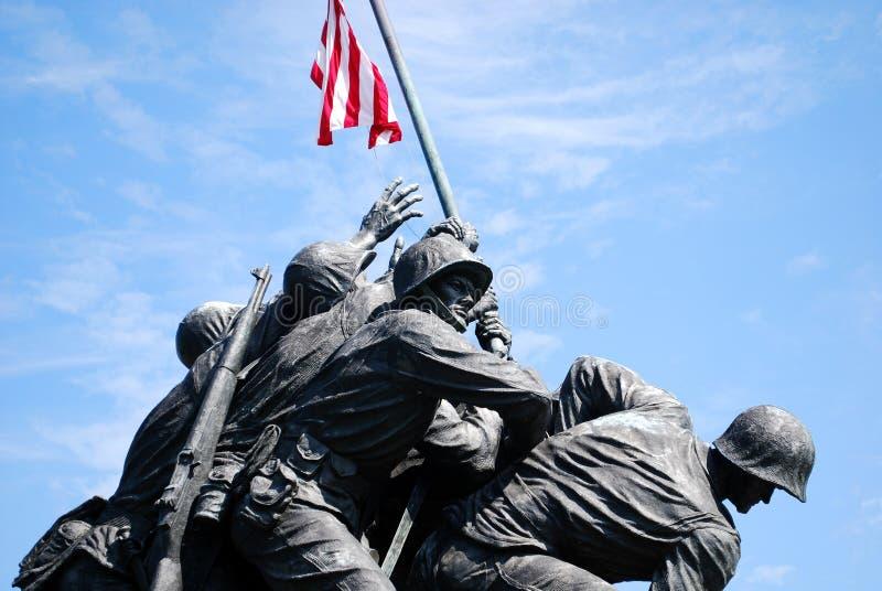 Monumento 2 de Iwo Jima fotografia de stock
