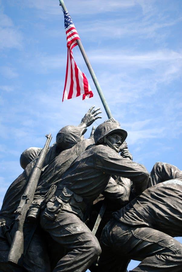Monumento 3 de Iwo Jima fotos de stock