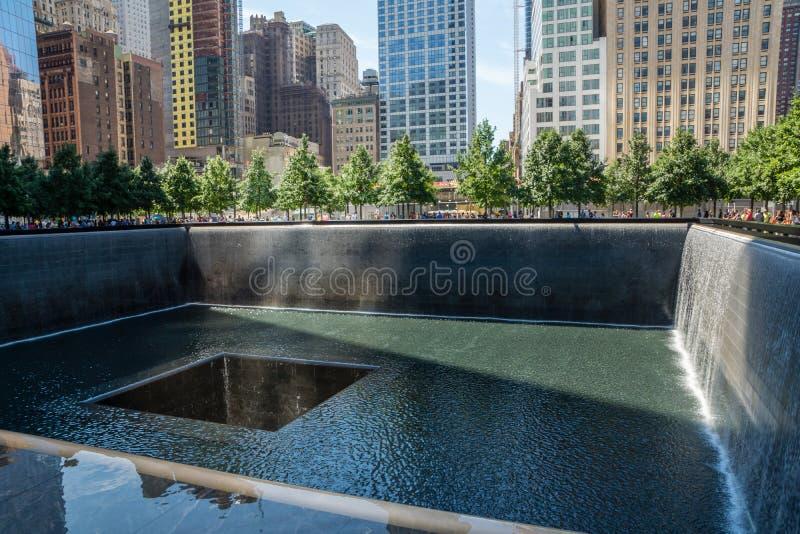9/11 monumento imagen de archivo