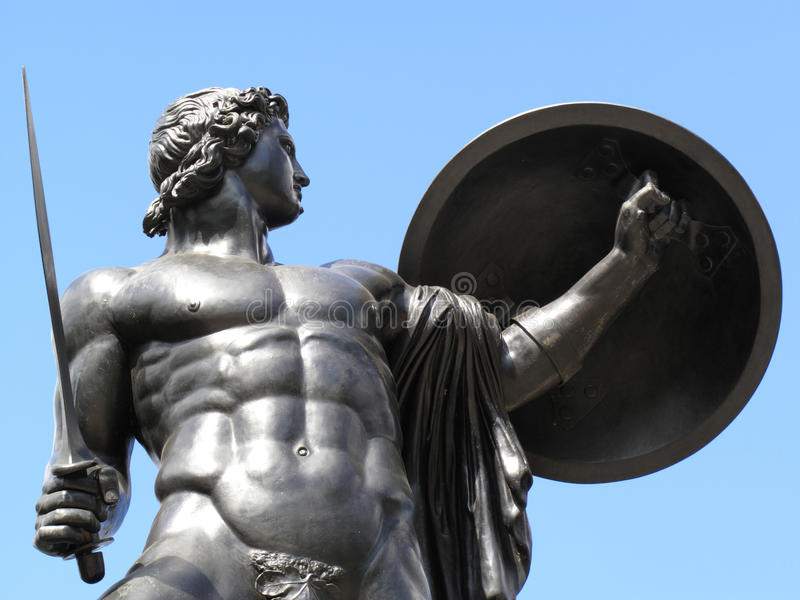Monumento Achilles di Wellington immagine stock