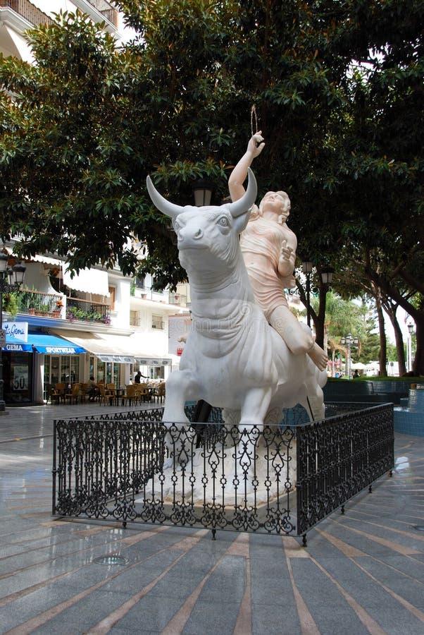 Monumento ad Europa, Torremolinos immagine stock