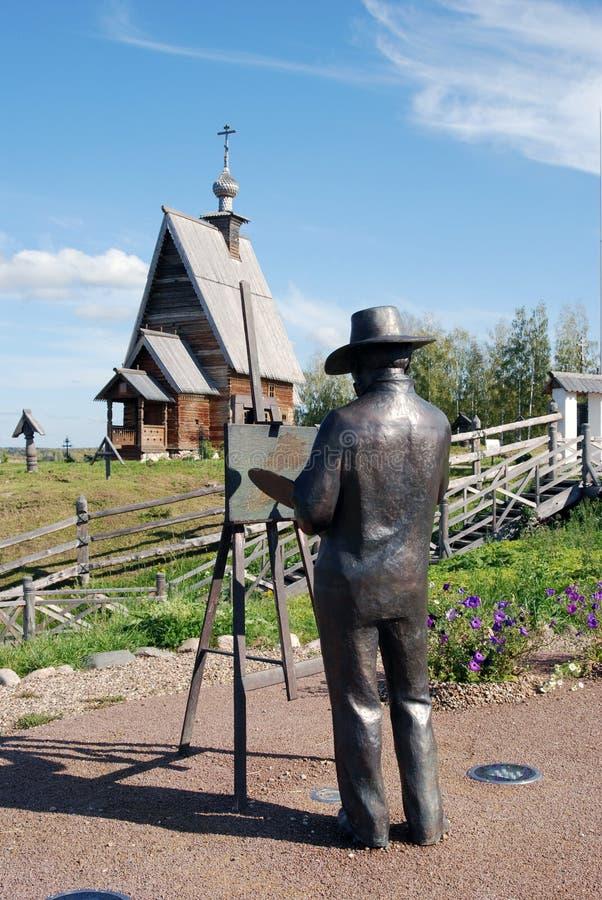 Monumento ad un paintor Isaak Levitan immagini stock libere da diritti