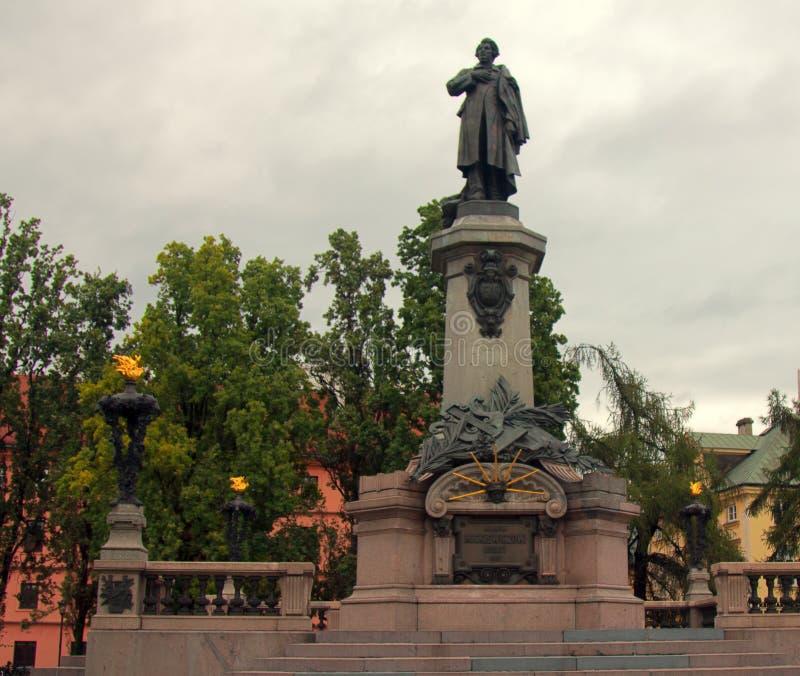 Monumento a Adam Mickiewicz foto de stock