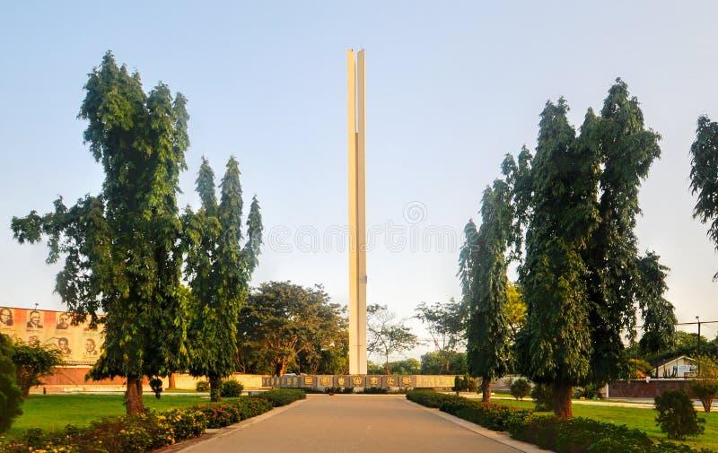 Monumento africano da unidade - Accra, Gana fotos de stock