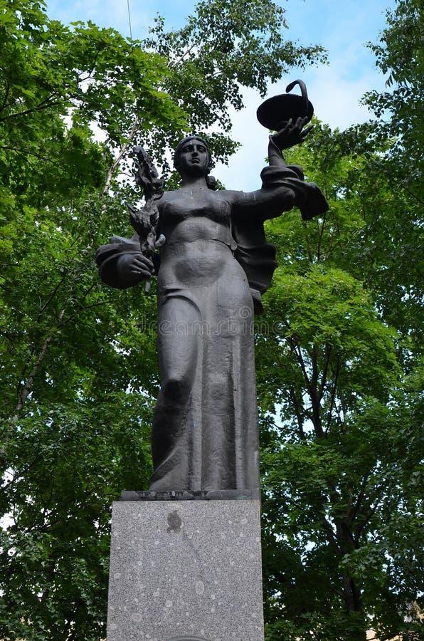 Monumento ai lavoratori medici fotografia stock libera da diritti