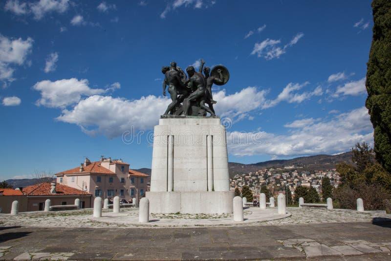 Monumento ai soldati caduti di Trieste fotografia stock