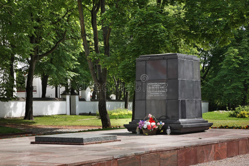 Monumento ai soldati sovietici in Siauliai lithuania immagini stock libere da diritti