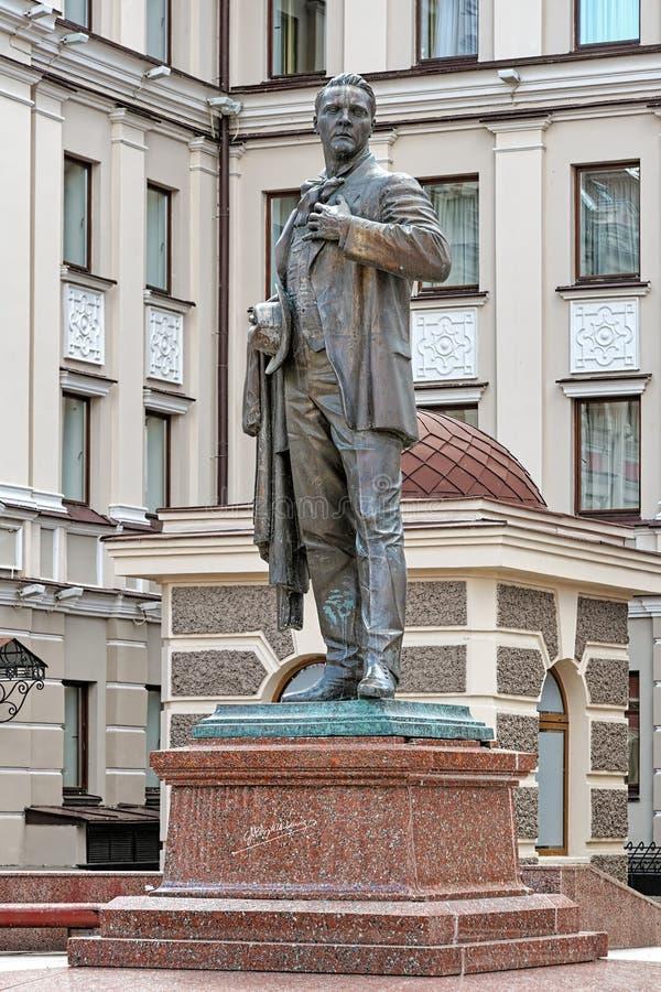 Monumento al cantante ruso Feodor Chaliapin de la ópera en Kazán fotos de archivo