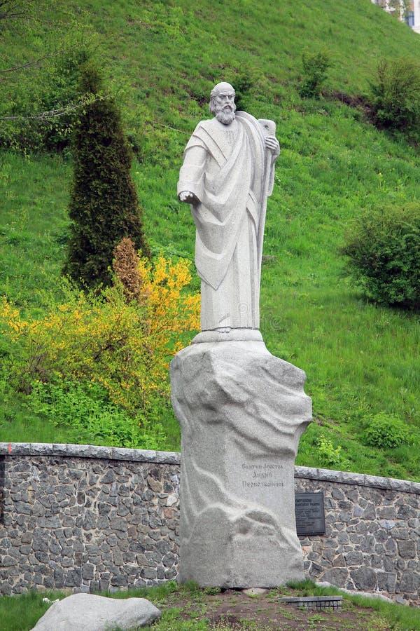 Monumento al di Andrew dell'apostolo Primo chiamato a Kiev fotografia stock