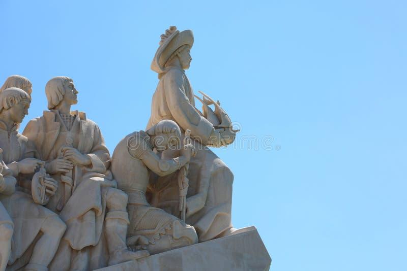 Monumento al DOS Descobrimentos de Padrao de los descubrimientos que celebra la edad portuguesa del descubrimiento durante el déc fotos de archivo