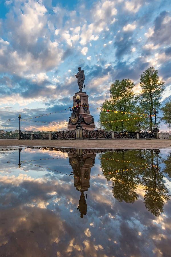Monumento al emperador Alexander III imágenes de archivo libres de regalías