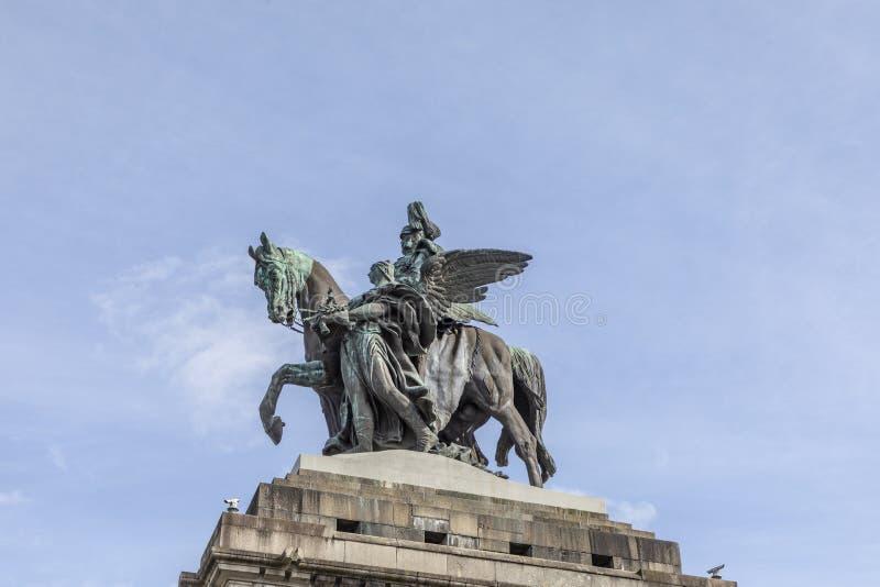 Monumento al emperador Guillermo de Kaiser Wilhelm I en Deutsches Ecke fotografía de archivo