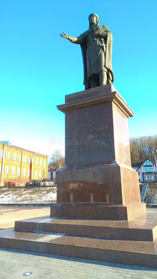 Monumento al fundador de la ciudad vieja fotografía de archivo