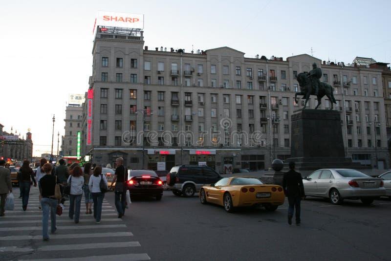 Monumento al fundador de Moscú, príncipe Yury Dolgoruky fotografía de archivo libre de regalías