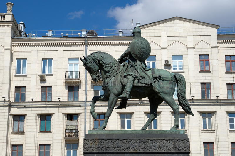 Monumento al fundador de príncipe Yuri Dolgoruky, Moscú, Rusia de Moscú imágenes de archivo libres de regalías