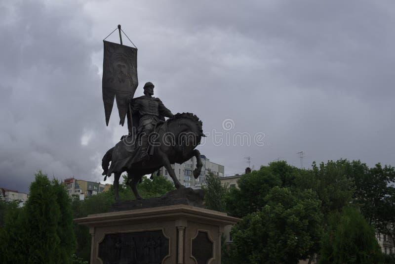 Monumento al fundador del Samara, la ciudad donde el mundial será sostenido fotografía de archivo