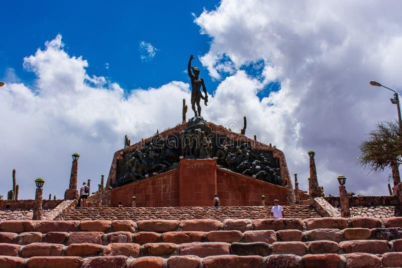 Monumento al indígena, humahuaca, jujuy, la Argentina foto de archivo libre de regalías