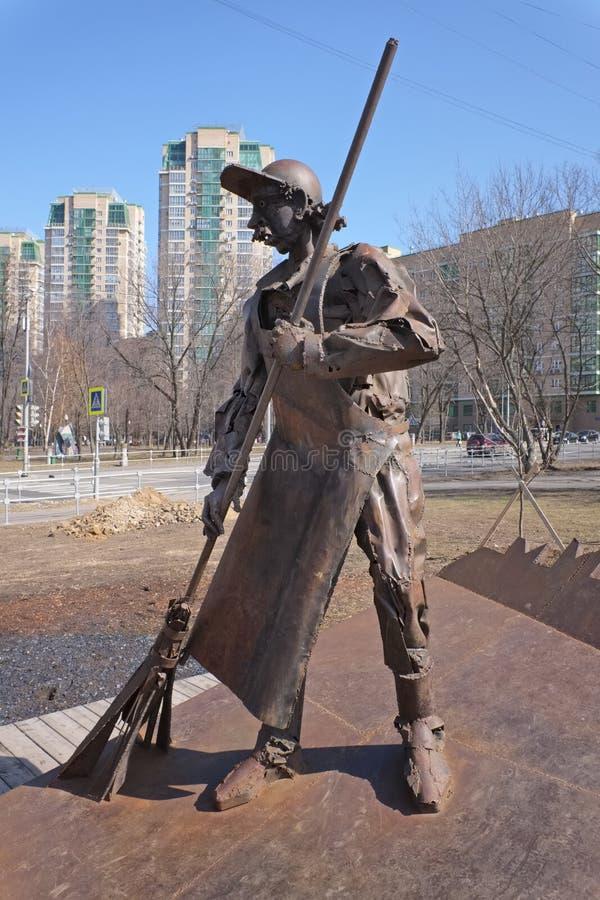 Monumento al janitor-1 fotografia stock