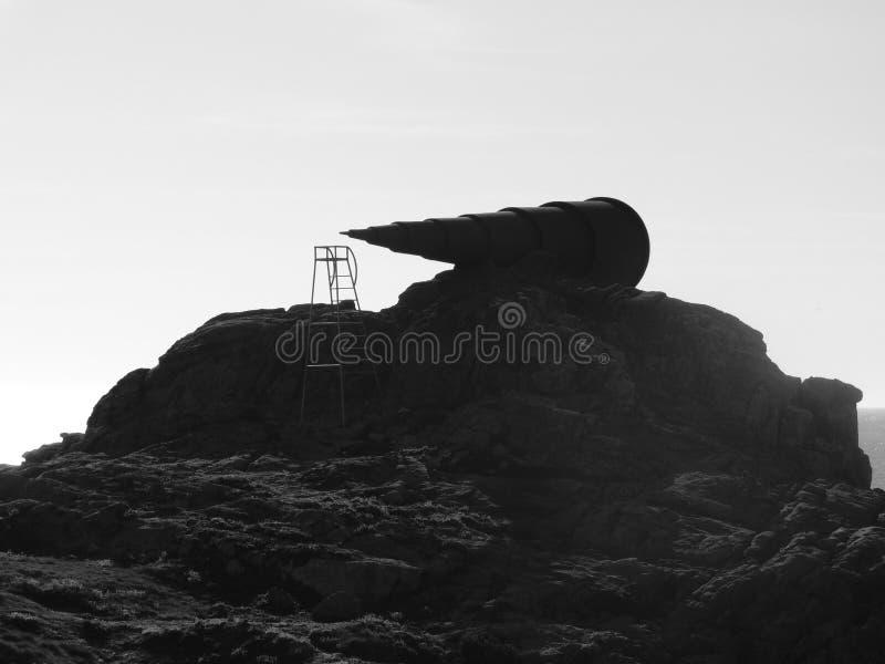 Monumento al mirón Arteixo-UNo Coruna-España imagen de archivo libre de regalías