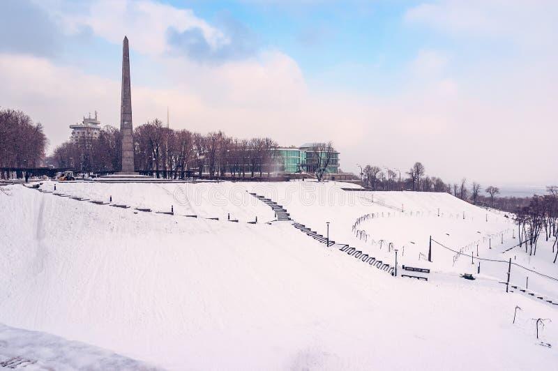 Monumento al obelisco del soldado desconocido y al banco internacional para la reconstrucción y el desarrollo imagenes de archivo