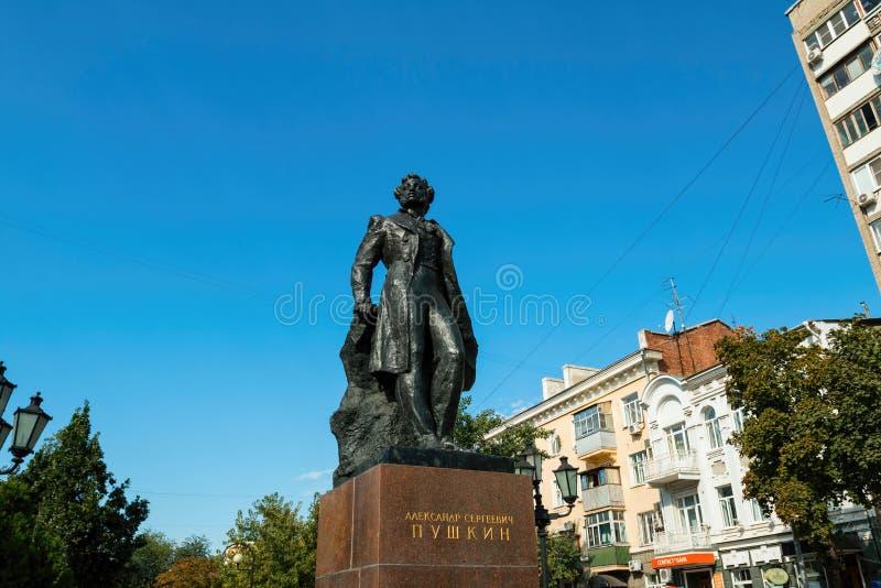 Monumento al poeta ruso Pushkin imágenes de archivo libres de regalías