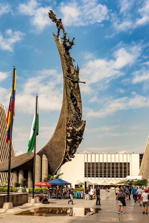 Monumento al Pueblo Antioqueno Monument to the People of Antioquia), Sculpture by Rodrigo Arenas Betancourt, Monument to La. Medellin, Colombia – March 26 royalty free stock photography