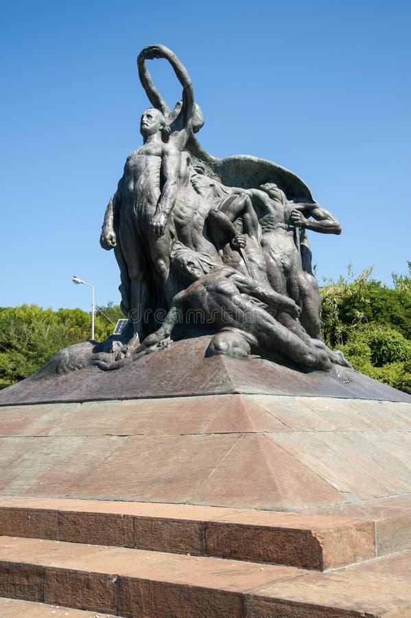 Monumento al quarto di Garibaldi Genoa di mille immagine stock libera da diritti